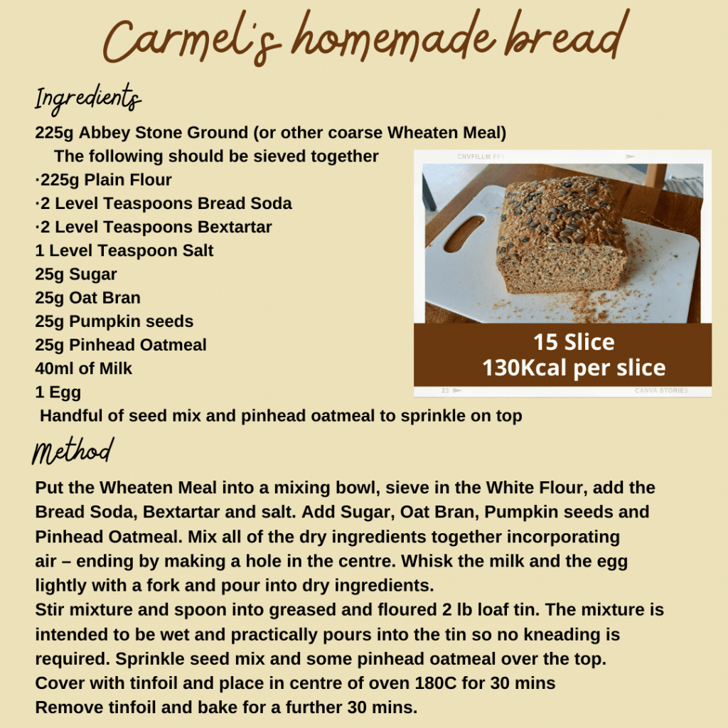 Carmel's homemade bread